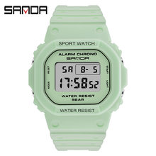 Часы наручные sanda женские цифровые модные спортивные водонепроницаемые