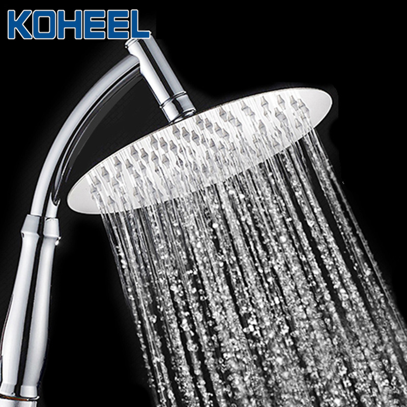 KOHEEL 4/6/8 Inch Square Round Stainless Steel Ultra-thin Showerheads & Rainfall Shower Head Water Saving Shower Heads