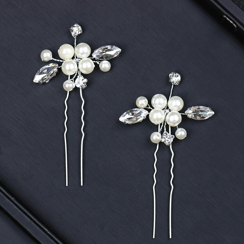 Gold Wedding Hairpins Pearl Bride Hair Jewelry Accessories Flower Bridal Hairpins Hair Ornament For Wedding Accessories Women