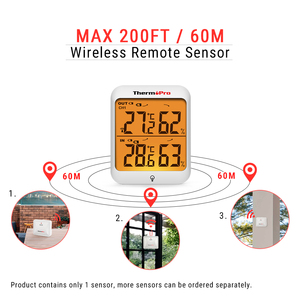 Image 2 - ThermoPro TP63A 60M Wireless Indoor Outdoor Weather Station Hygrometer Thermometer Digital Humidity Thermometer With Backlight