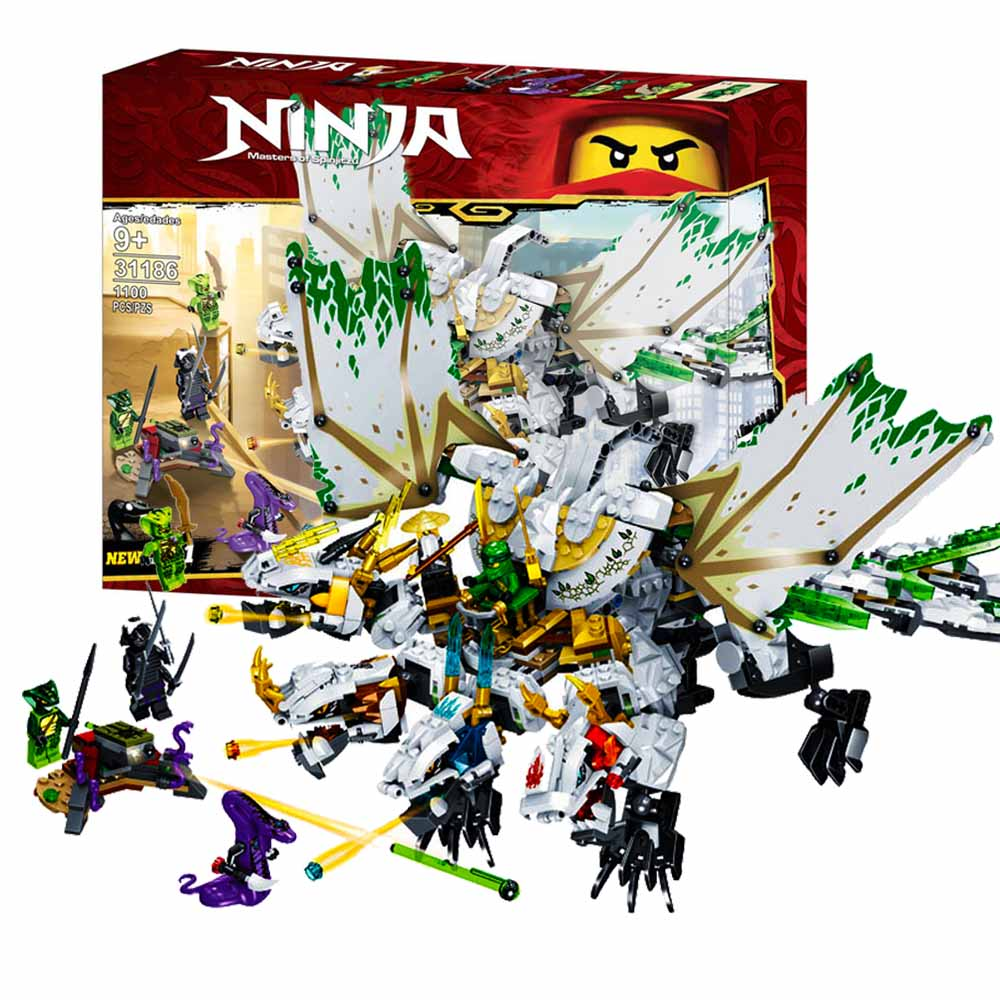 1100pcs Ninja Mirage Ultimate Dragon Complex Compatible Legoigey Ninjagoes Building Blocks Bricks Toys Action Figures Toys Gifts