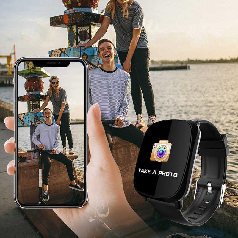 Color Screen Men Smart Bracelet Heart Rate Blood Pressure Fitness Tracker Multi Sport Mode Women Smart Wristband Waterproof 2019