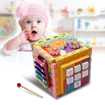 Kids Toys Multi-function Intelligence Box Montessori Educational Wooden Toys For Children Montesori Early Education Kids Gifts