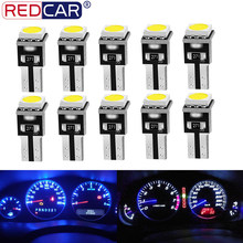 10pcs T5 Led Bulb W3W W1.2W Led Canbus 17 37 73 74 Auto LED Lamp Car Interior Lights Dashboard Light Auto Instrument Lamp 12V