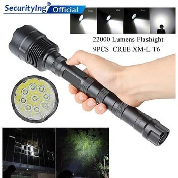 SecurityIng 22000 Lumen 9x XML T6 5 Modes Outdoor Lighting Super Flashlight LED Torch Lamp Light for Camping / Hiking sitemap 139 xml