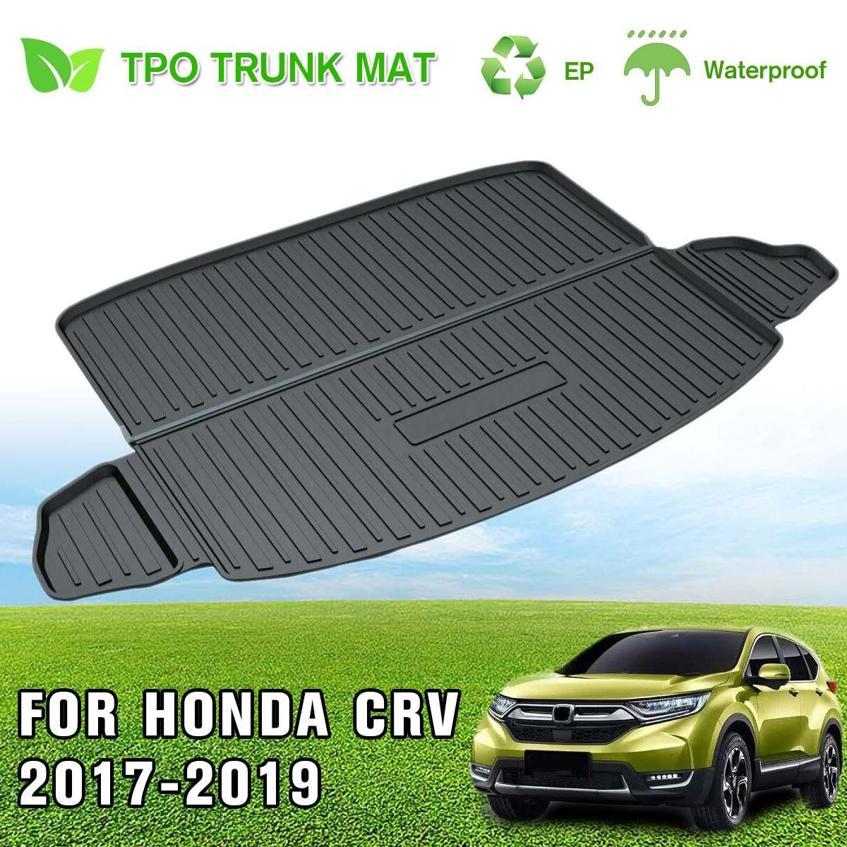 Nouveau coffre arrière de voiture doublure cargaison botte TPO tapis de sol boue coup de pied protecteur tapis pour Honda pour CR-V pour CRV 2017 2018 2019