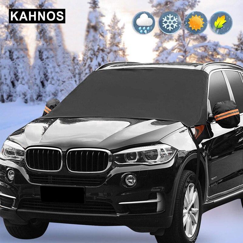 Universal รถกระจกหิมะปกคลุมฤดูหนาวแม่เหล็กรถยนต์ป้องกันครอบคลุม Frost รถด้านหน้ากระจกครอบคลุม