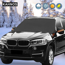 Universele auto Voorruit autohoes Sneeuw Winter Magnetische Automobile Protective Covers Vorst-proof Auto Voorruit Covers(China)