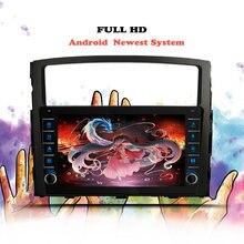 Navegação gps 6 + 10.0g do reprodutor de vídeo dos multimédios do rádio do carro de android 128 para mitsubishi pajero 4 2006 2007 08-2014 nenhum 2din 2 din dvd