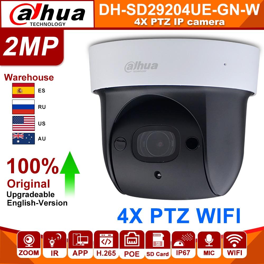 original Dahua SD29204T GN W 2MP 1080P 4X Optical Zoom PTZ WiFi Network IP Camera CCTV 30M Night Vision Wireless WDR ICR DNR IVSSurveillance Cameras   -