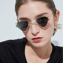 Unisex Punk Sunglasses Men Acrylic Women Color Lens Fashion Retro Trend Metal Tourism