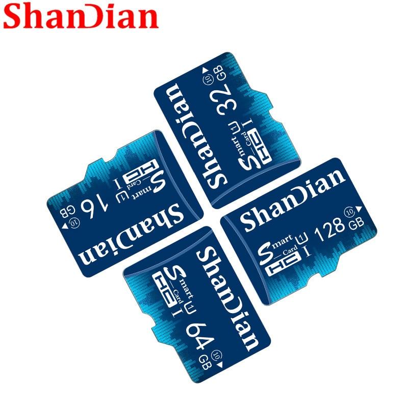 Shandian cartão sd inteligente 8gb 16gb tf classe de cartão 6 alta velocidade mini cartão de memória 32gb cartão sd inteligente capacidade real frete grátis