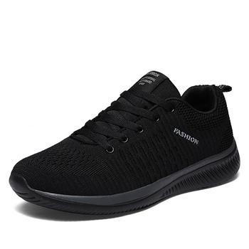 Mesh mężczyźni obuwie lac-up mężczyźni buty lekkie wygodne oddychające buty do chodzenia Tenis masculino Zapatillas Hombre tanie i dobre opinie Amduine Płótno Przypadkowi buty Gumką Pasuje prawda na wymiar weź swój normalny rozmiar Buty łodzi Wiosna jesień