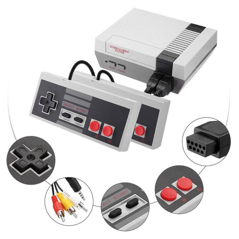 Built-In 500/620 Games Mini TV Game Console 8 Bit Retro Classic Handheld Gaming Player AV Output Video Game Console with US Plug