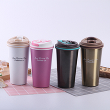 500ML Portable Double Stainless Steel Vacuum Flasks Thermos Mug Coffee Cup with Lid Thermocup Seal Car Mug Tumbler Water Bottle creative stainless steel simulation slr camera lens thermos mug cup w cup lid black 420ml