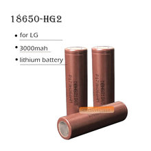Original HG2 3000mAh 18650 battery for LG 3000mah 3.6V for electronic cigarette lithium high rate high current power battery(China)