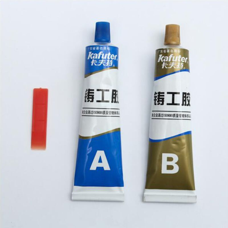 2pcs Industrial AB Glue Strong Adhesive Heat Resistance Cold Weld Metal Repair Casting Paste Quick-drying Sealant