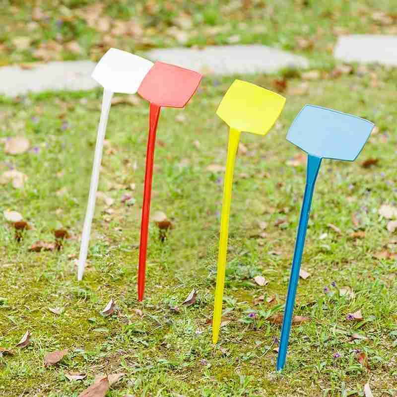 10pcs 30cm T-type Plastic Nursery Garden Plant Label Gardening Plant Classification Sorting Sign Ticket Flower Thick Tag Mark