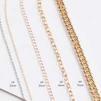 1 м золотое или серебряное ожерелье цепь плоские овальные звенья цепи для самостоятельного изготовления ювелирных изделий ювелирные аксес...