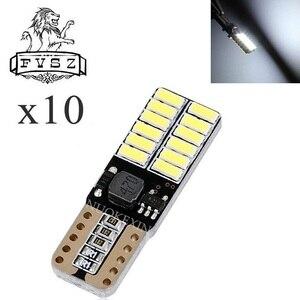 Image 4 - 10 stücke T10 LED canubs W5W 4014 194 Auto lichter bulb Auto herstellung unabhängige 24 led glühbirne ist sehr helle Weiß, gelb