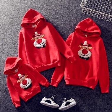 Nouvelle famille correspondant enfants vêtements noël chandails cerf imprimer famille Parent-enfant costume impression coton pull