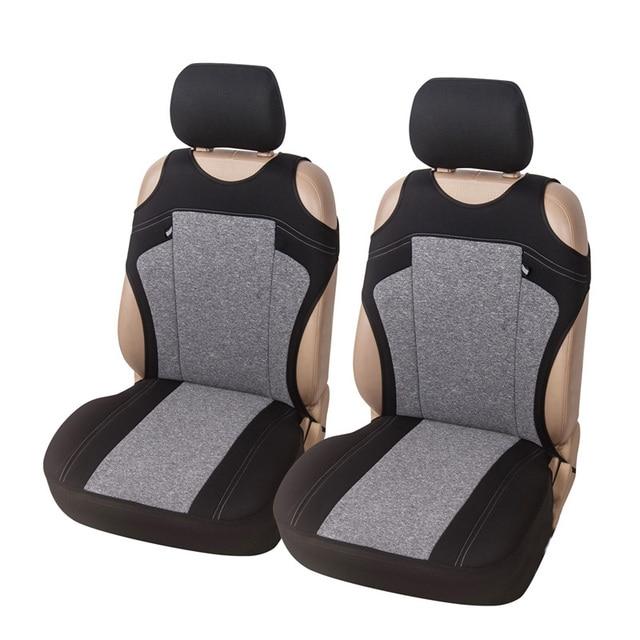 Funda para asiento de coche, Cubiertas de asiento delantero transpirable, decoración de alta calidad, 3 colores, Protector Universal para la mayoría de los vehículos