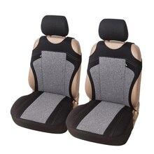 Tシャツ車のシートカバーの通気性フロントシートカバー3色高品質装飾カーシートプロテクターユニバーサルフィットほとんどの車