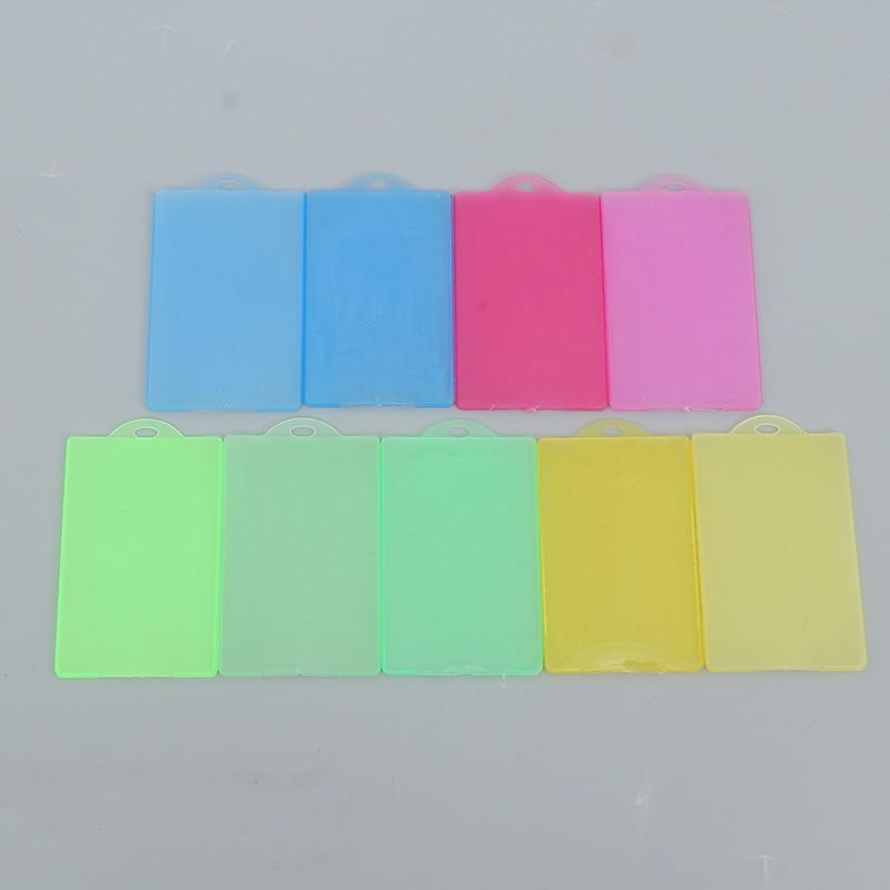Multi-color PP Plastic Transparent Bus Card Holder Shopping Card Business Card Membership Card Credit Card Holder Wholesale