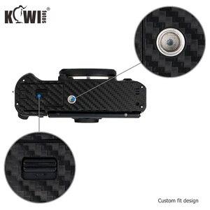 Image 4 - Kiwi Anti Scratch Protetor de Pele Da Tampa Do Corpo Da Câmera Para Fujifilm Fuji X T30 3 XT30 Câmera Anti Slide Filme De Fibra De Carbono 3M Adesivo