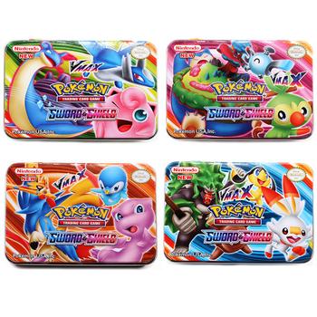 42 sztuk zestaw żelazne pudełko Pokemon TAKARA TOMY bitwa zabawki Hobby Hobby kolekcje kolekcja gier Anime karty dla dzieci tanie i dobre opinie CN (pochodzenie) 8 ~ 13 Lat 14 lat i więcej 5-7 lat Dorośli Chiny certyfikat (3C) Zwierzęta i Natura