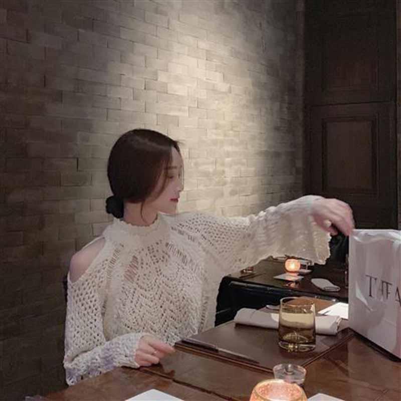 Novo outono feminino blusas soltas vintage oco fora do ombro manga longa blusas casual feminino pulôver de rua superior plus size