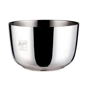 Утолщенная 304 чаша из нержавеющей стали с крышкой для домашних блюд, двойная изоляция, Детские чаши для риса и супа