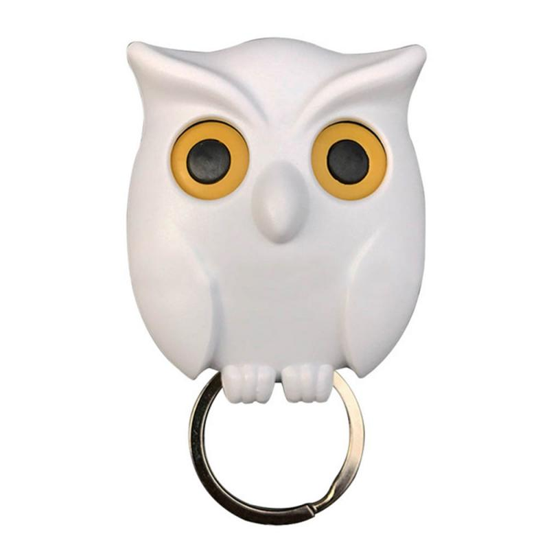 1 Pc Owl Key Holder Magnet Wall Rack Creative Magnetic Mount Hook Organizer Hanger Keychains Key Hanger Hook Hanging Key