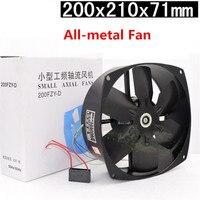 Metal Blade 200FZY2 D Cooling Fan 220V 65W 0.3A High Temperature Copper Motor All Metal Axial Fan blower soprador ventilador de
