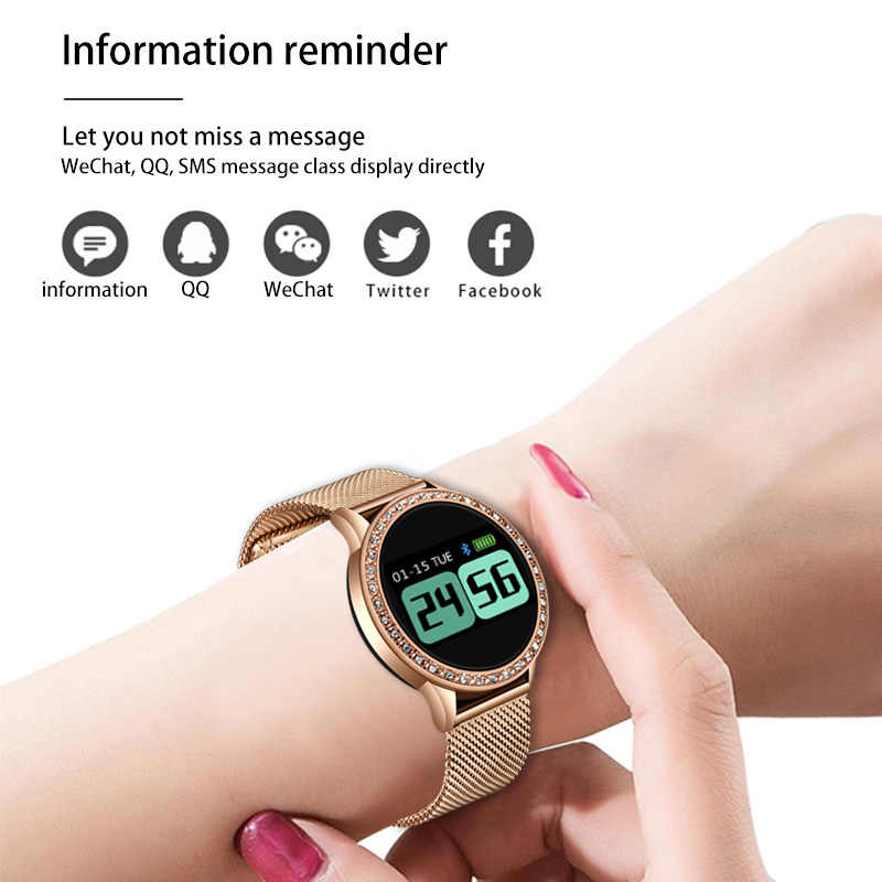 LIGE ساعة ذكية النساء IP67 جهاز تعقب للياقة البدنية ضغط الدم مراقب معدل ضربات القلب عداد الخطى الرياضة سوار ذكي ل ios أندرويد