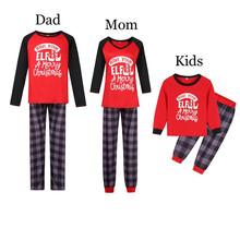 цена на 2019 Family Matching Christmas Pajamas PJs Sets Kids Adult Xmas Sleepwear Nightwear Clothing family casual clothes Set E0280