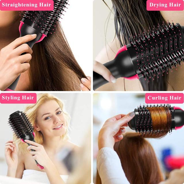 One Step Hair Dryers And Volumizer Blower Professional 2-in-1 Hair Dryers Hot Brush Blow Drier hair dryer and hair straightener 5