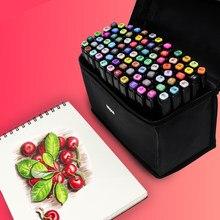 Touchfive 30/40/60/80 cores marcadores de esboço do estudante álcool baseado marcador escova tinta óleo escola desenho arte suprimentos para o artista