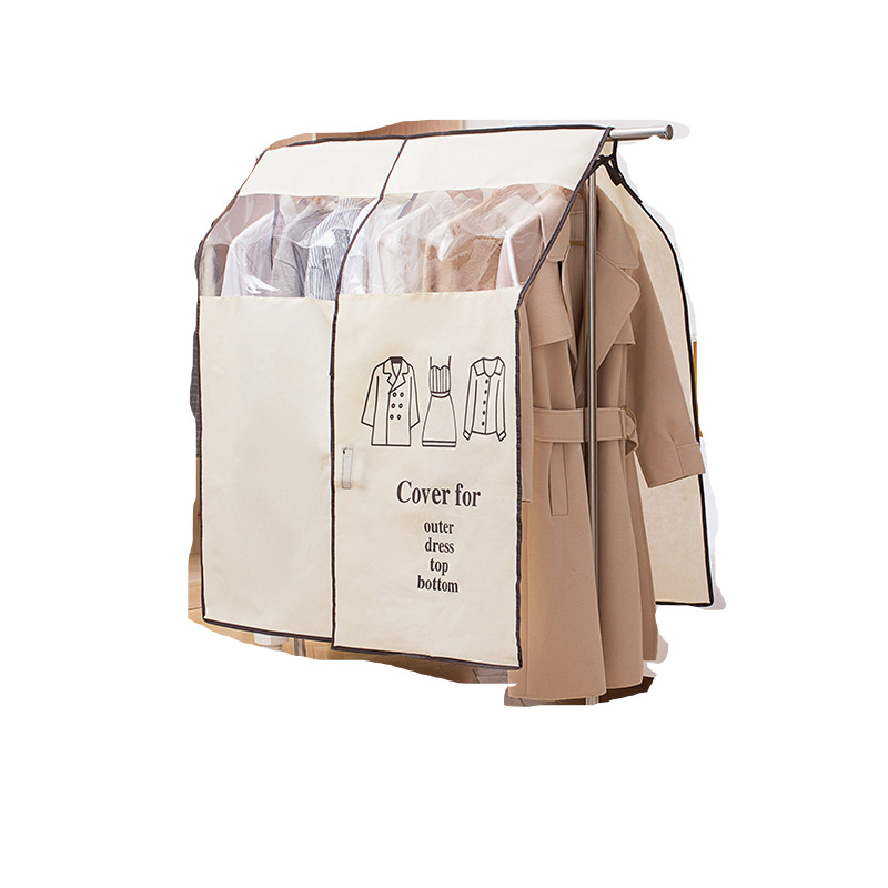 Floor-standing Dust Bag For Clothes Dress Coat Dust-proof Clothes Cover Home Storage title=