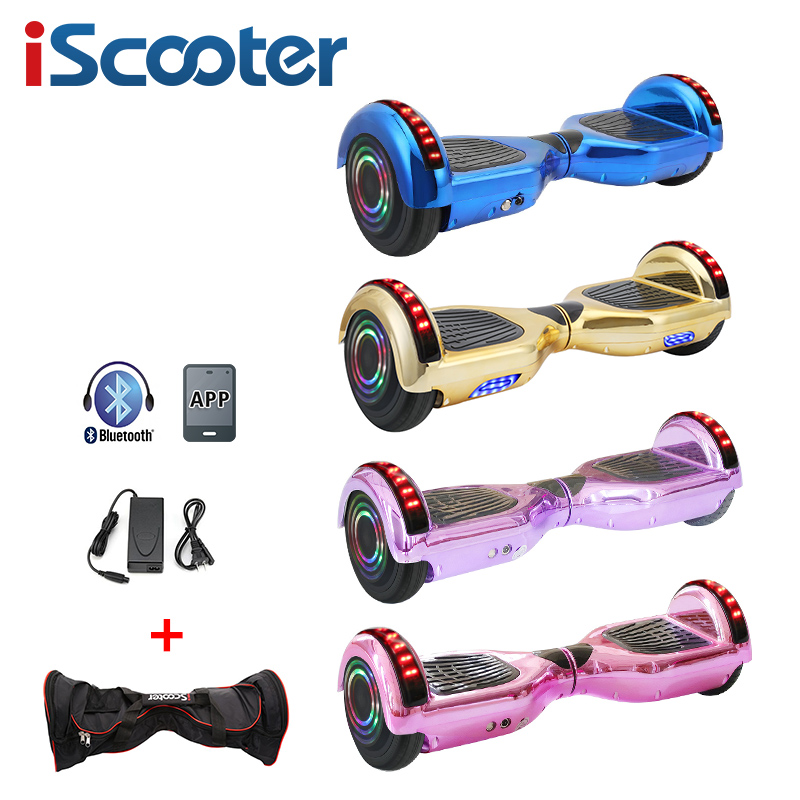6.5 Inch For Child Hoverboard With App Smart Electric Scooter Two Wheels Self Balancing Electric Skateboard With LED Light