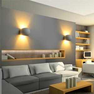 Image 4 - Modern Plaster Wall Light Handmade Gypsum Lamp 110V 220V Wall Mounted LED Sconce Living room Bedroom Decorate Indoor Wall Lamps