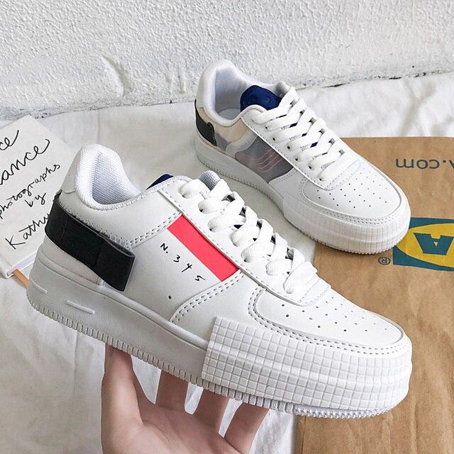Luxe Vrouwen Gevulkaniseerd Schoenen Lente Herfst Sport Ademend Sneakers Trend Trainers Unisex Casual Witte Schoenen Zapatillas Hombre
