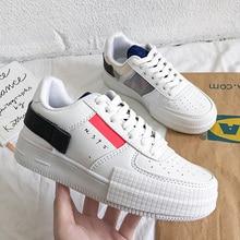 Mulheres de luxo sapatos vulcanizados primavera outono esporte respirável tênis tendência formadores unisex casual sapatos brancos zapatillas hombre