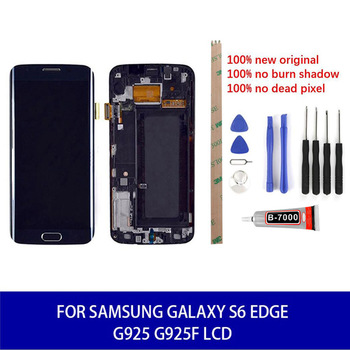Original Super Amoled For Samsung Galaxy S6 EDGE G925 G925F LCD Display Touch Replacement Parts Tools 5.1Inch 100% High Quality