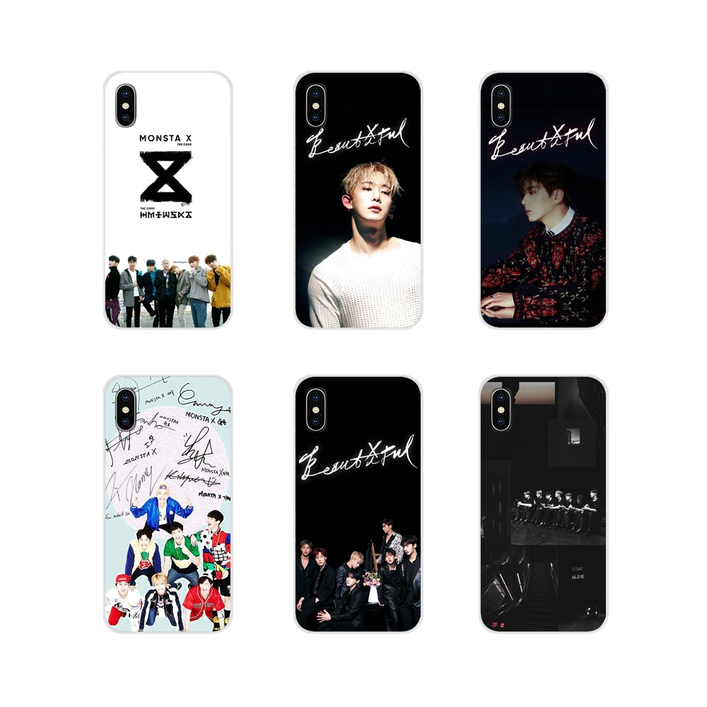 Monsta X <font><b>KPOP</b></font> Boy Group Brilliant For <font><b>Samsung</b></font> Galaxy A3 A5 A7 A9 A8 Star A6 Plus 2018 2015 2016 2017 TPU Transparent Shell Cover image