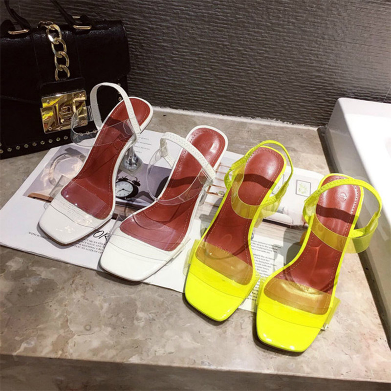 Summer Women Crystal Open Toe Jelly Sandals Ladies Elastic Band Sike High Heels Female Transparent Pumps Fashion Shoes 4