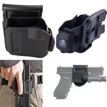 Tático 360 girando glock clip mão direita molle coldre para glock 17 19 22 23
