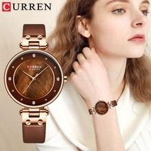 Relogiio Feminino CURREN נשים שעוני יוקרה מותג גבירותיי Creative פשוט קוורץ שעון שמלת רשת פלדה שעונים חדש שעון