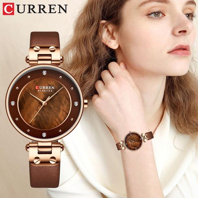 Relogiio Feminino CURREN ผู้หญิงนาฬิกาแบรนด์หรูสุภาพสตรีความคิดสร้างสรรค์นาฬิกาควอตซ์ชุดเหล็กตาข่ายนาฬิกานาฬิกาใหม่