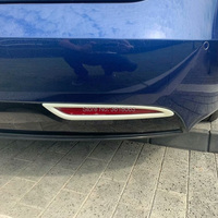 For Tesla Model S 2014 2018 2019 ABS Chrome Rear Tail Fog Lights Covers Lamp Frame Stickers Protector Decoration Car Accessories